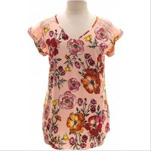 Express - Pink Floral Print Blouse